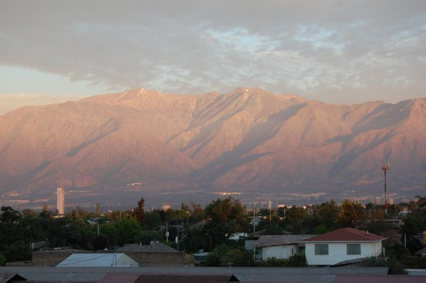 View of the Andes and Santiago International Real Esate --www.thethreeyearexperiment.com