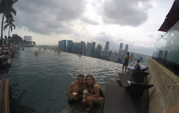 The view from the Infinity Pool at MBS.