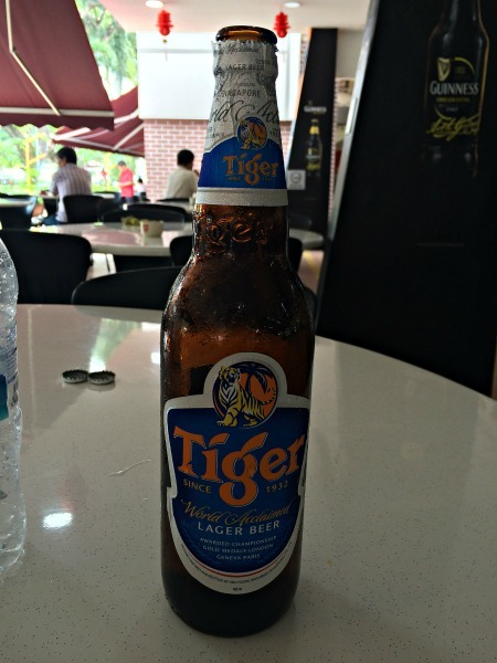 Tiger beer Hawker Center Singapore--www.thethreeyearexperiment.com