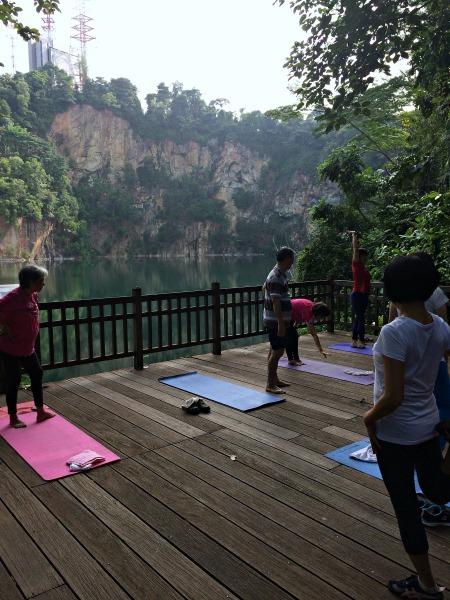 Bukit Timah park yoga--www.thethreeyearexperiment.com
