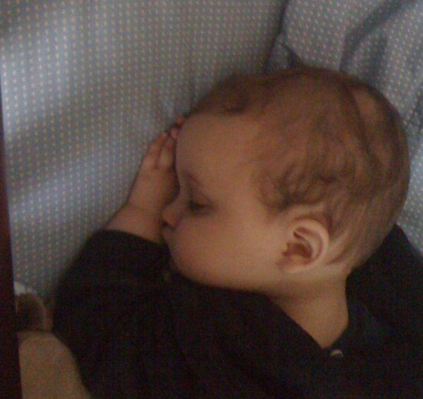 sleeping baby--www.thethreeyearexperiment.com