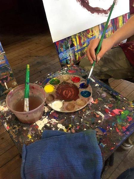 making art--www.thethreeyearexperiment.com