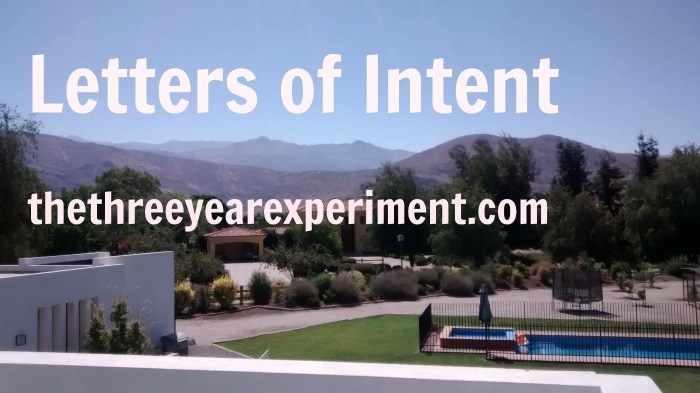 Letters of Intent--www.thethreeyearexperiment.com