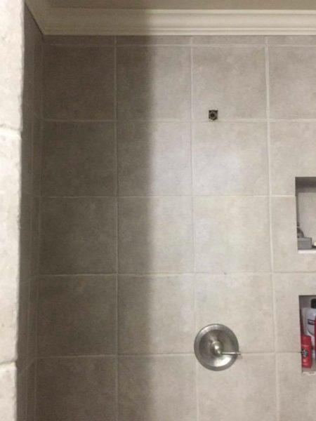 Broken shower--www.thethreeyearexperiment.com