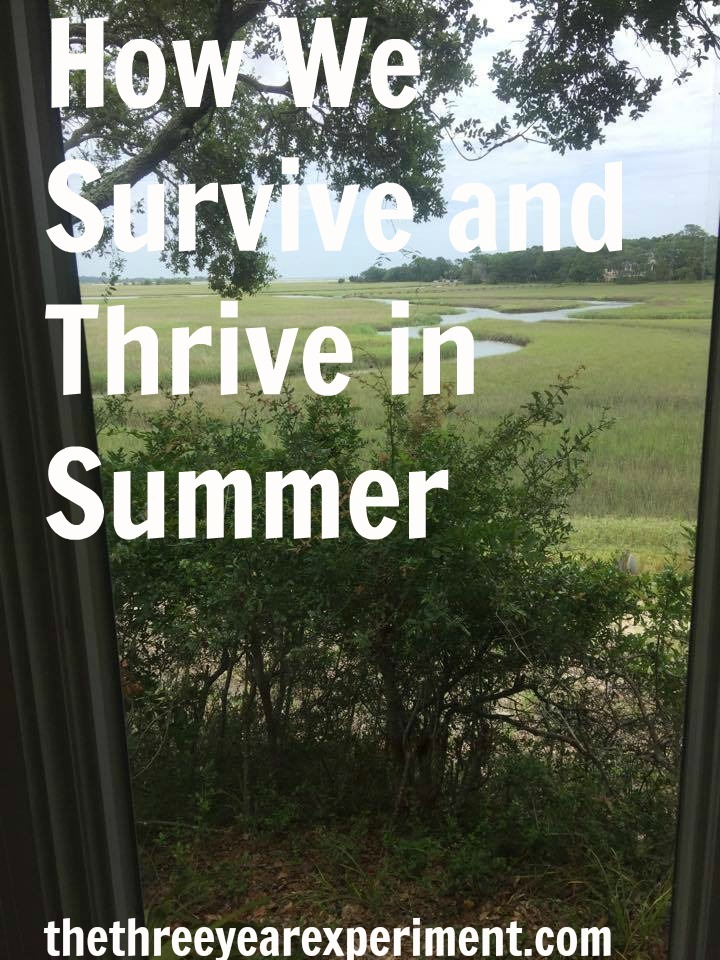 Survive and Thrive in Summer--www.thethreeyearexperiment.com