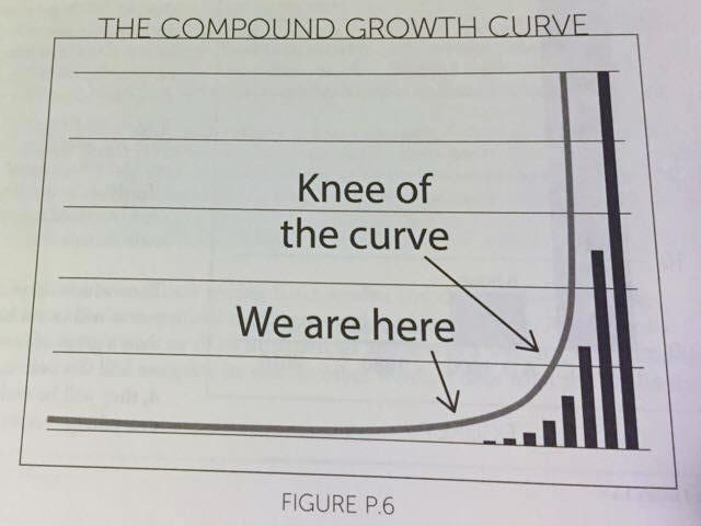 Knee of the curve--www.thethreeyearexperiment.com
