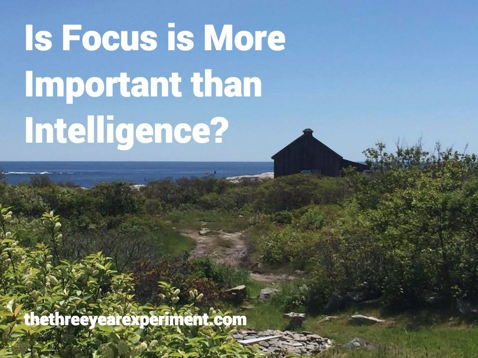 Is Focus More Important Than Intelligence?