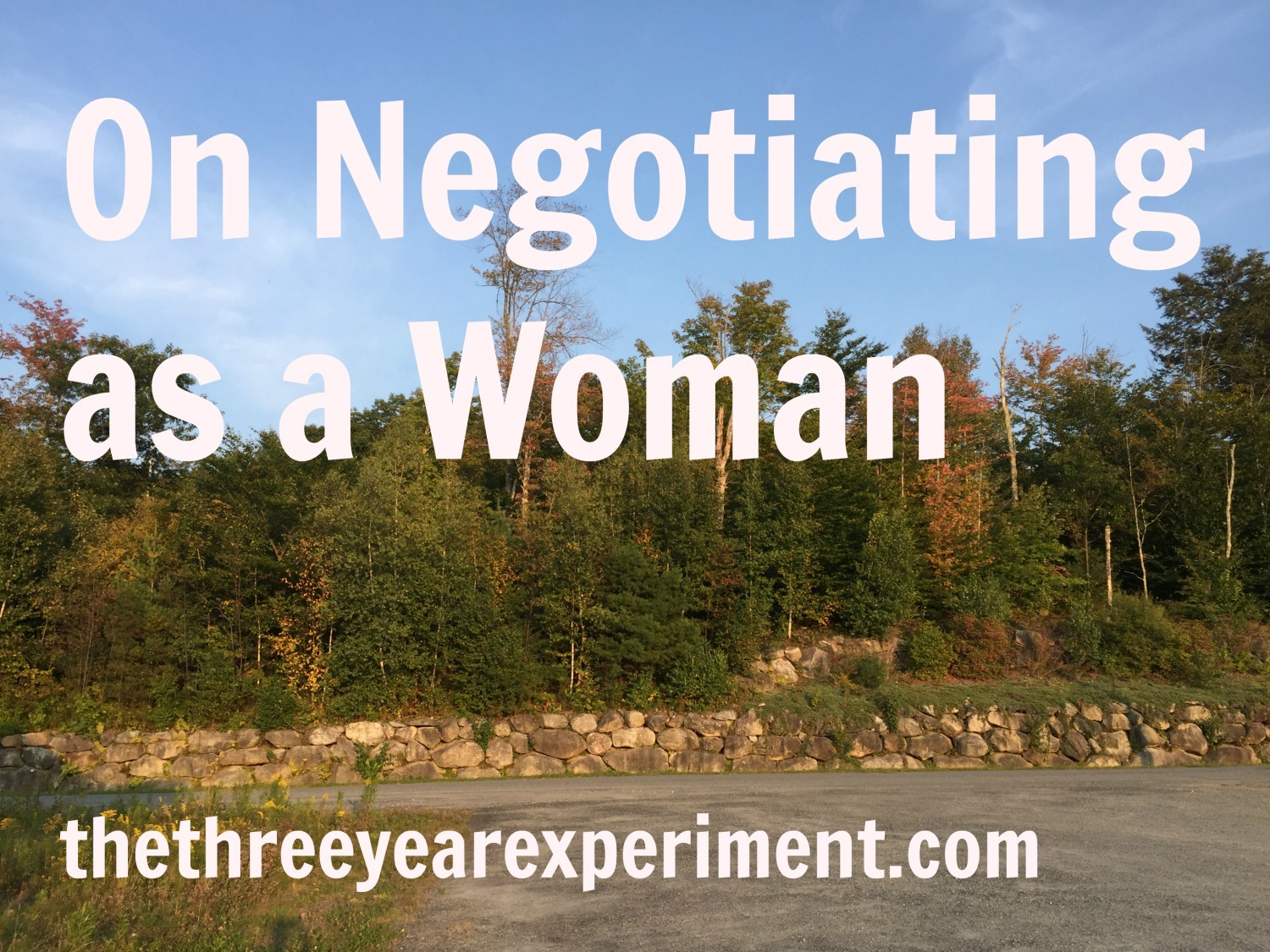 On Negotiating as a Woman--www.thethreeyearexperiment.com