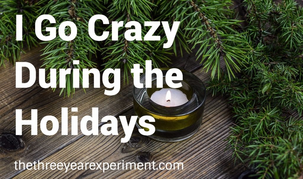 I Go Crazy During the Holidays--www.thethreeyearexperiment.com