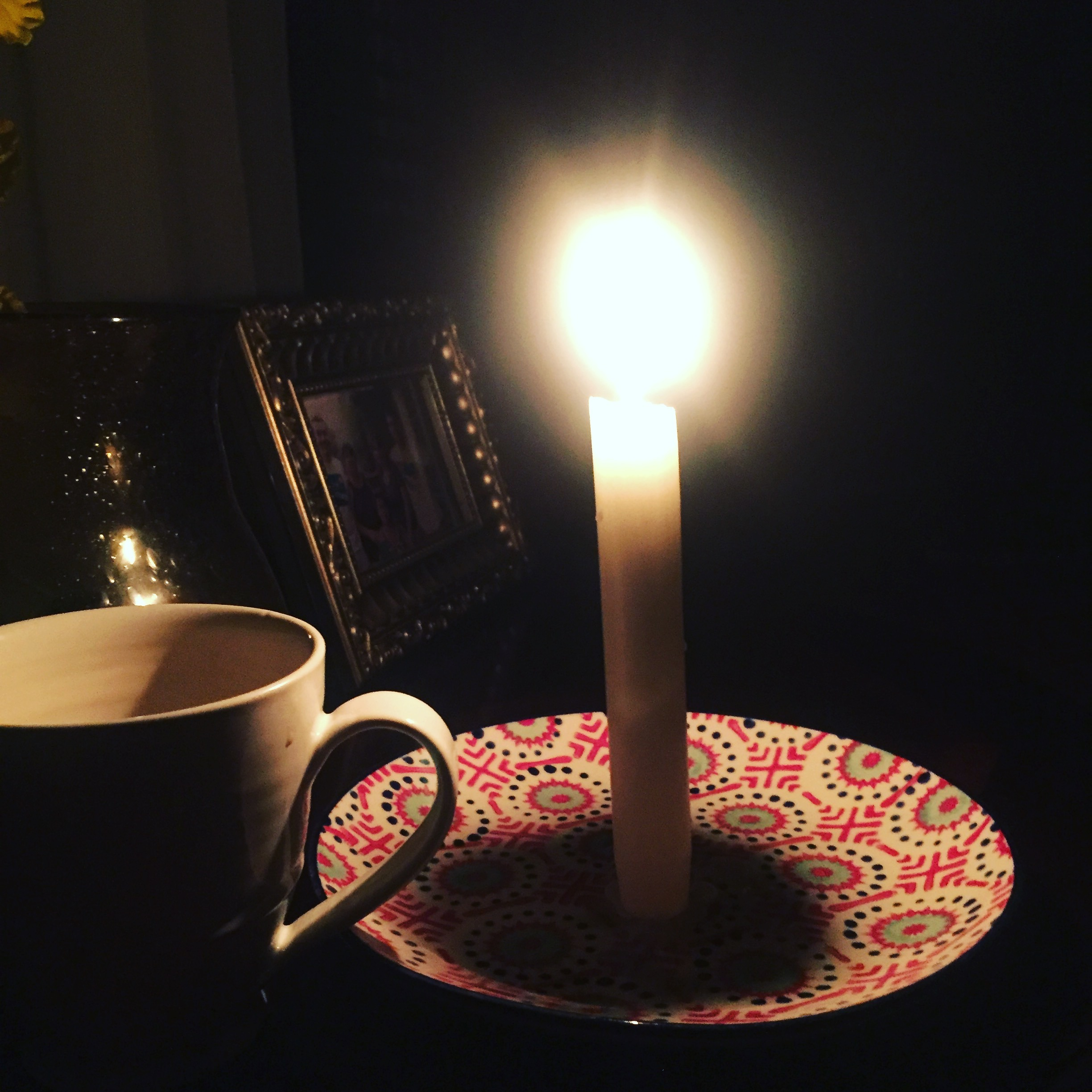 Candlelight coffee--www.thethreeyearexperiment.com