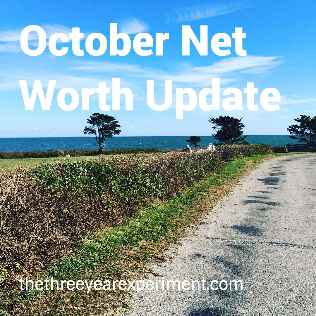 October Net Worth--www.thethreeyearexperiment.com