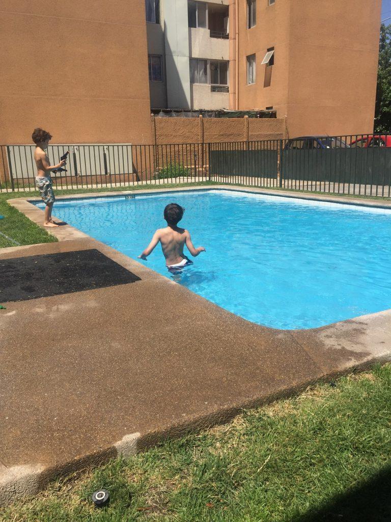 Swimming pool--www.thethreeyearexperiment.com