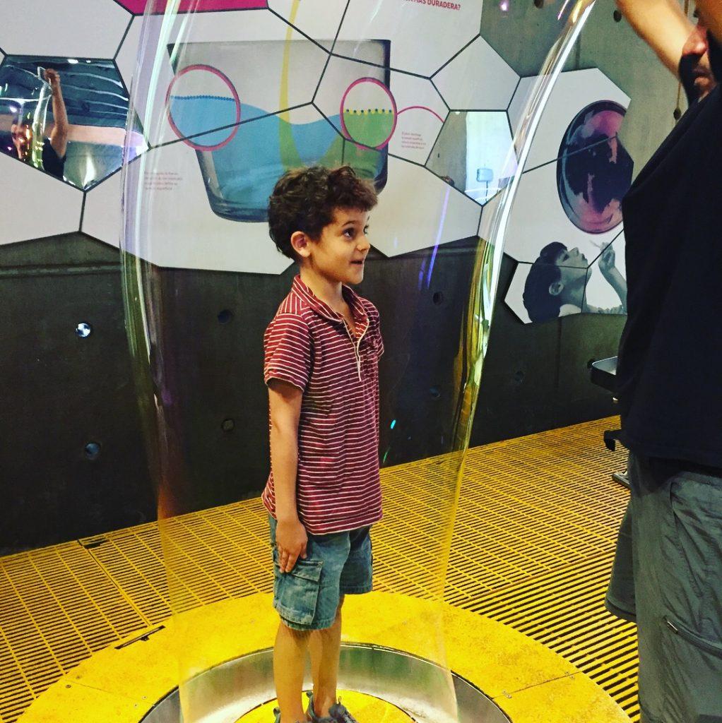 Giant bubble--www.thethreeyearexperiment.com