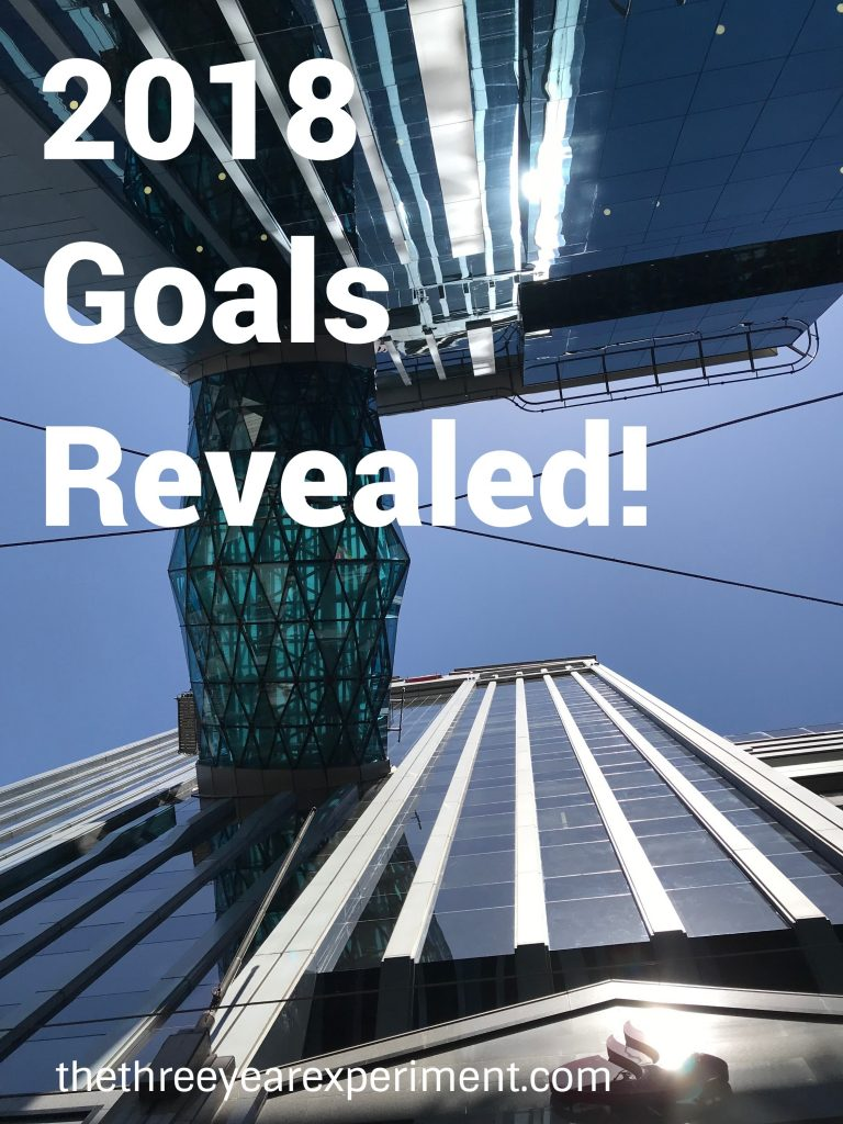 2018 Goals Revealed--www.thethreeyearexperiment.com