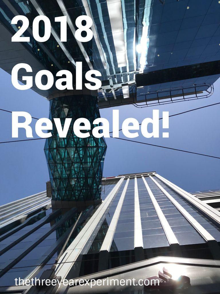 2018 Goals Revealed--www.thethreeyearexperiment.com