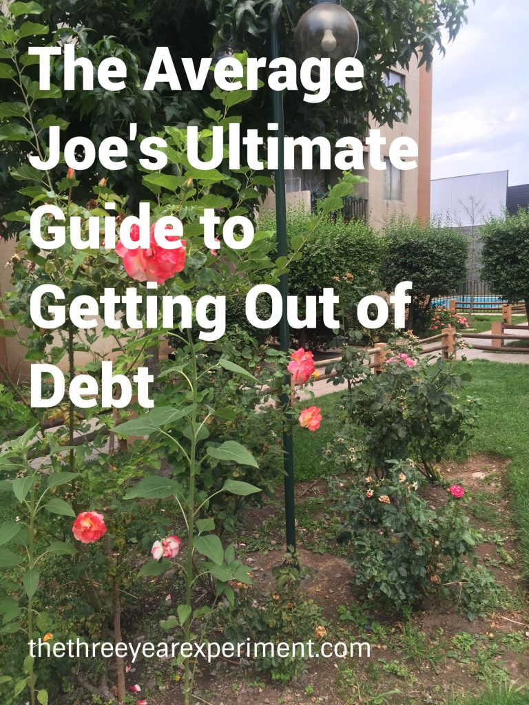 Average Joe Ultimate Guide Debt--www.thethreeyearexperiment.com