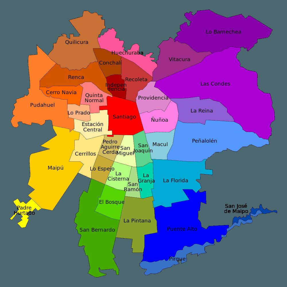 Comunas de Santiago--www.thethreeyearexperiment.com