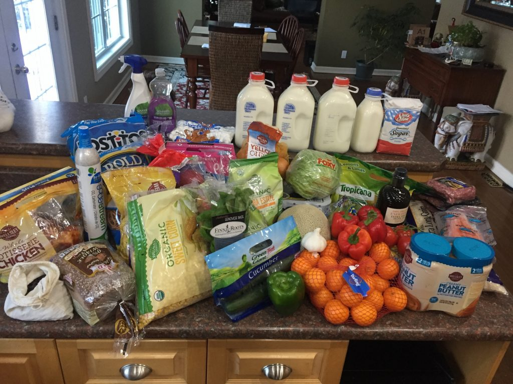 Week 2 Grocery Shopping--www.thethreeyearexperiment.com