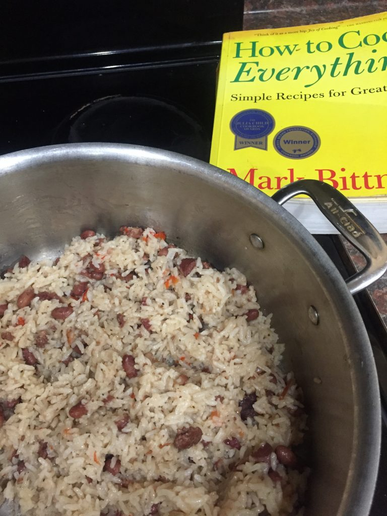 Red beans and rice--www.thethreeyearexperiment.com