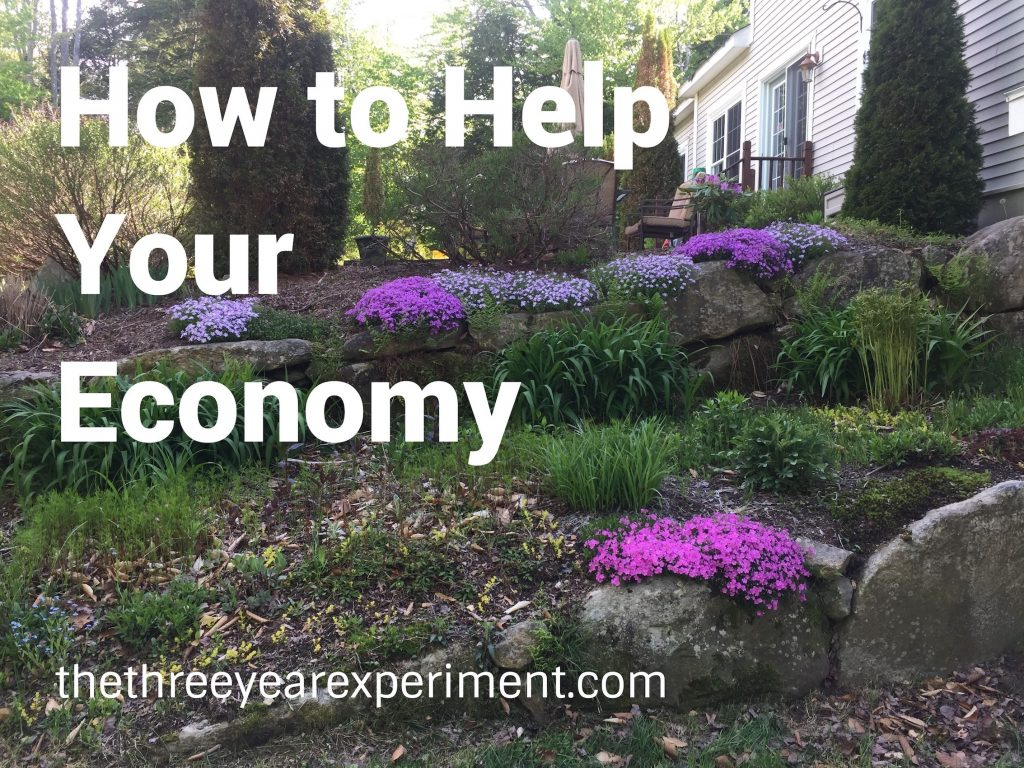 How to Help Your Economy--www.thethreeyearexperiment.com
