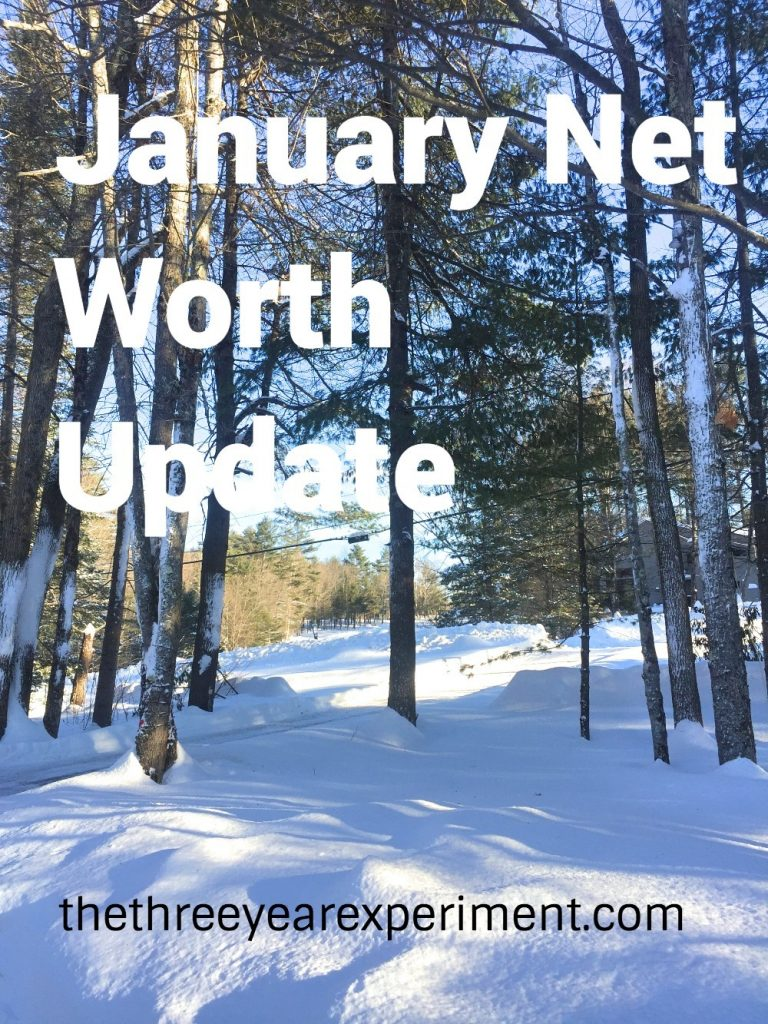 January Net Worth Update--www.thethreeyearexperiment.com