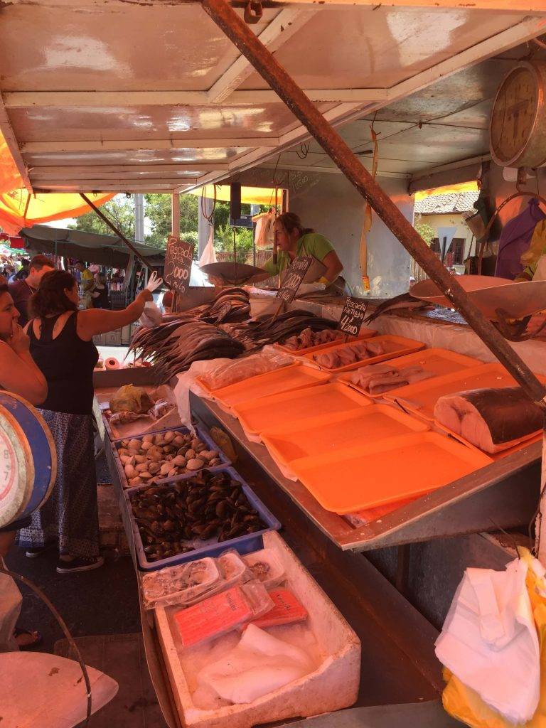 Feria Chile seafood budget travel kids sightsee for less www.thethreeyearexperiment.com