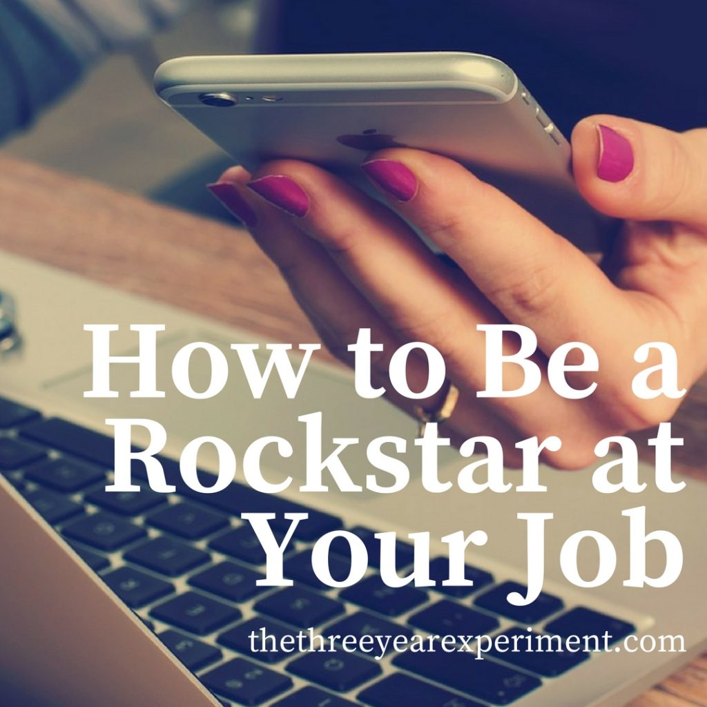 Rockstar Job Computer Girl phone working www.thethreeyearexperiment.com