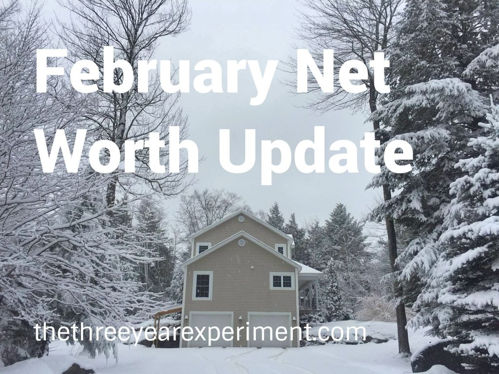 February Net Worth Update--www.thethreeyearexperiment.com