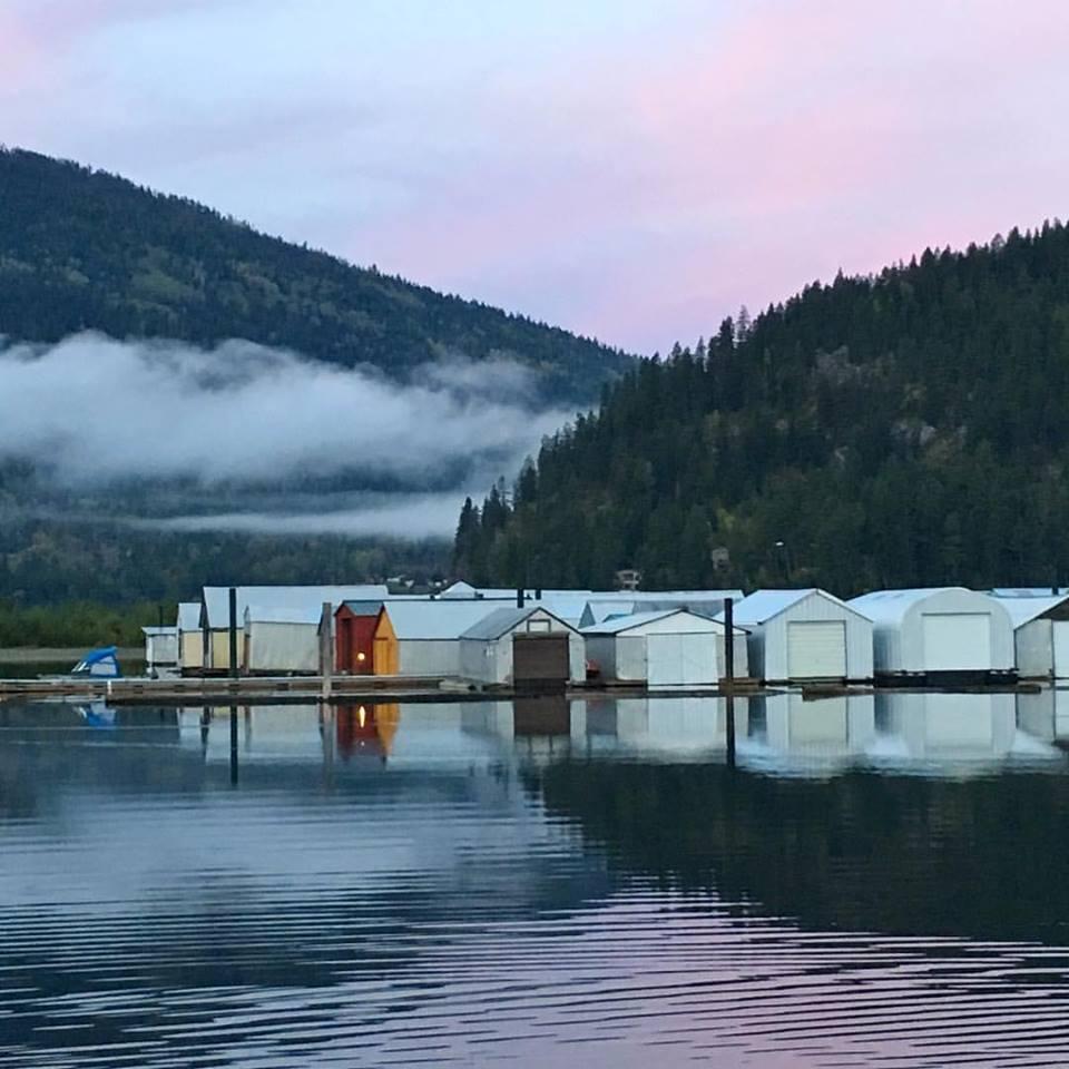 Kootenay Lake lake clouds sheds www.thethreeyearexperiment.com