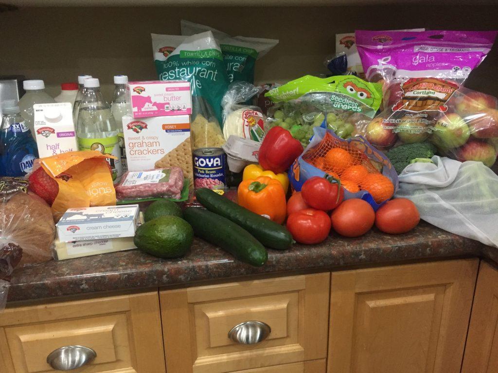Groceries fruits veggies snacks www.thethreeyearexperiment.com