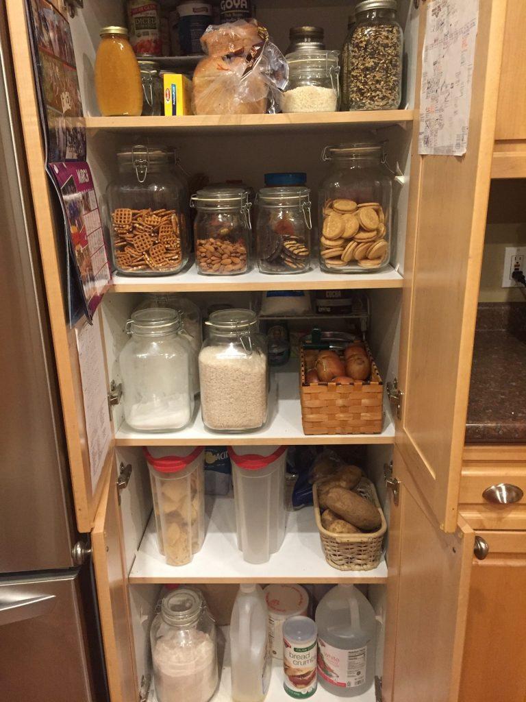 Snacks in the pantry glass jars www.thethreeyearexperiment.com