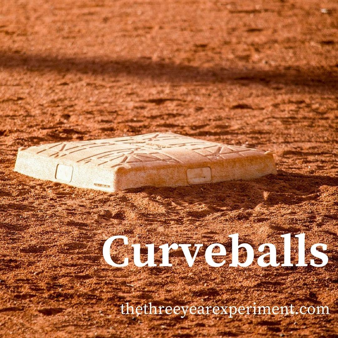 Curveballs--www.thethreeyearexperiment.com