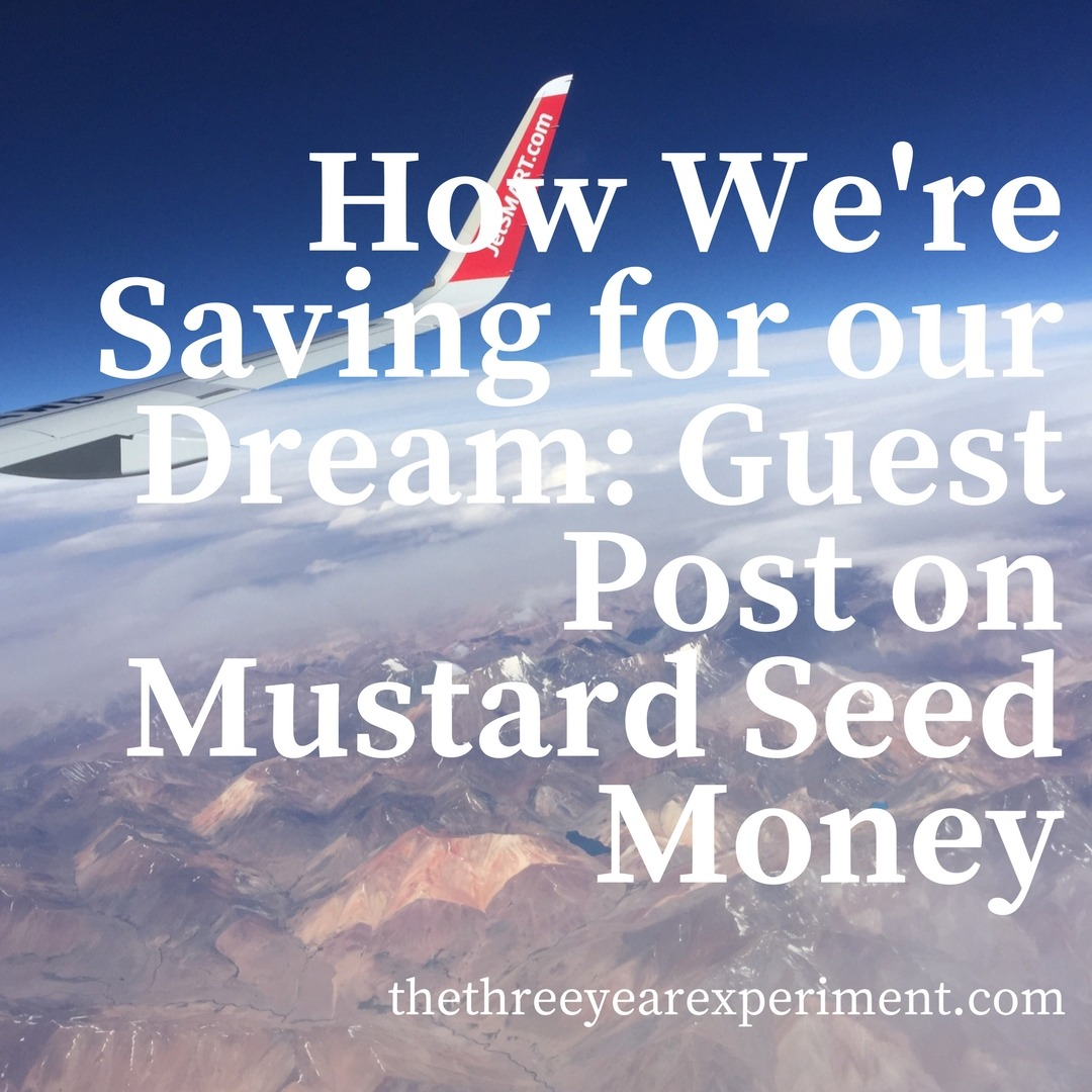 How We're Saving for our Dream: Guest Post on Mustard Seed Money www.thethreeyearexperiment.com