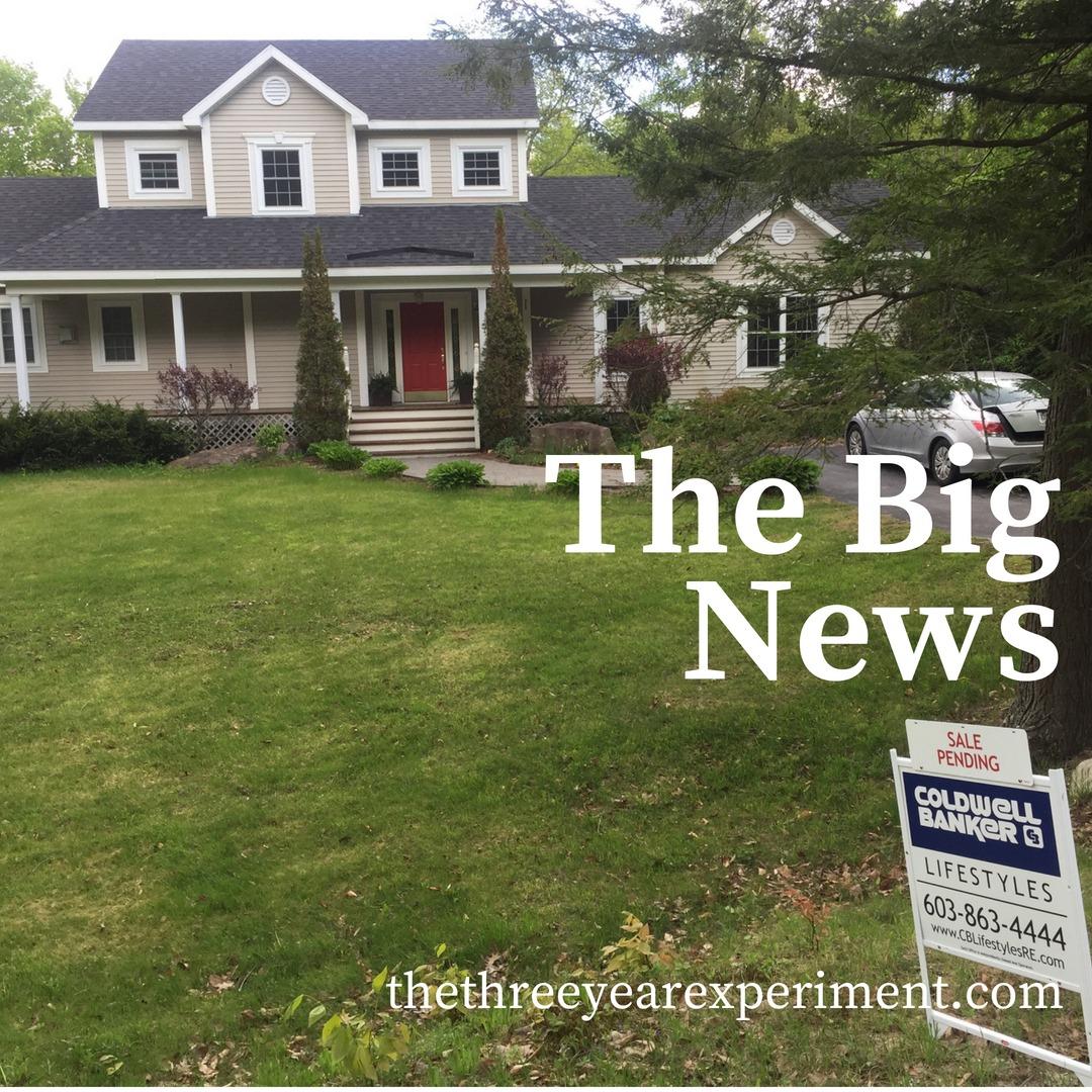 The Big News www.thethreeyearexperiment.com
