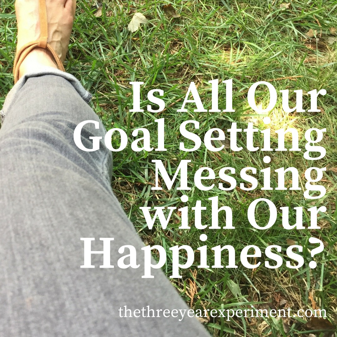 Is All Our Goal Setting Messing with Our Happiness? www.thethreeyearexperiment.com