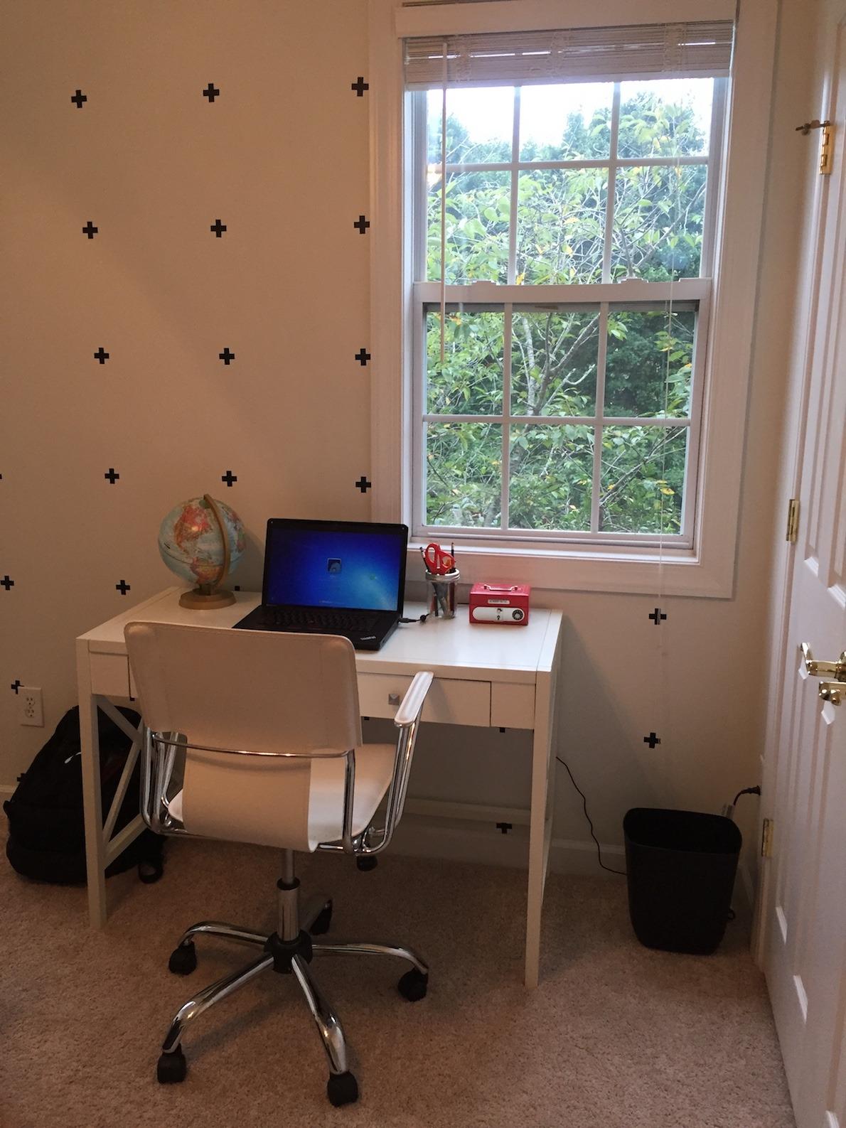 Desk area www.thethreeyearexperiment.com