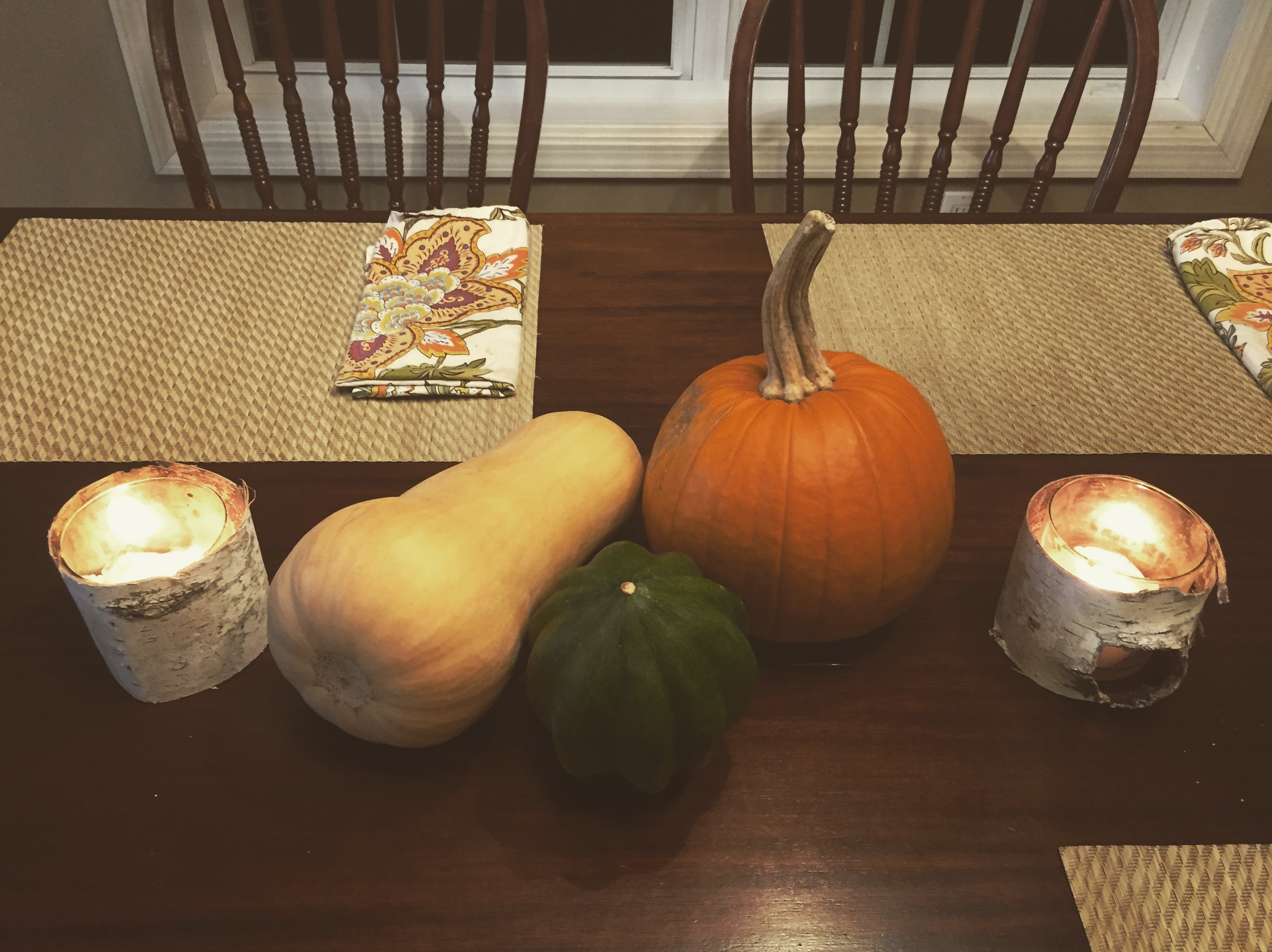 Frugal decorating pumpkin www.thethreeyearexperiment.com