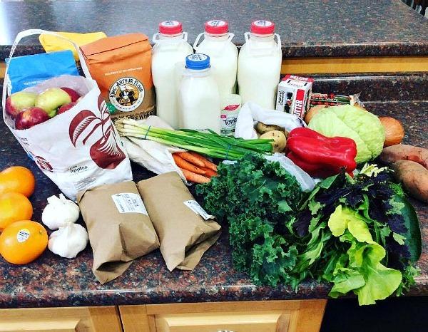 Zero waste groceries--www.thethreeyearexperiment.com