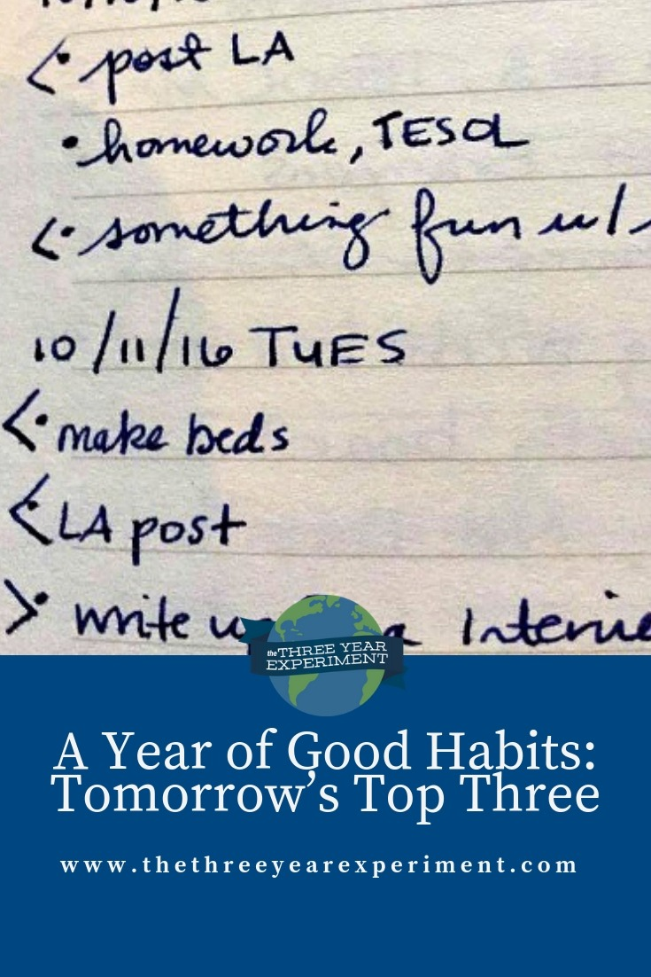 What if you could adopt one habit, just one, this year, that would exponentially increase your efficiency? This month, I tackle your top 3 to do list. via @lauriethreeyear #habits #efficiency #todolist #hustle