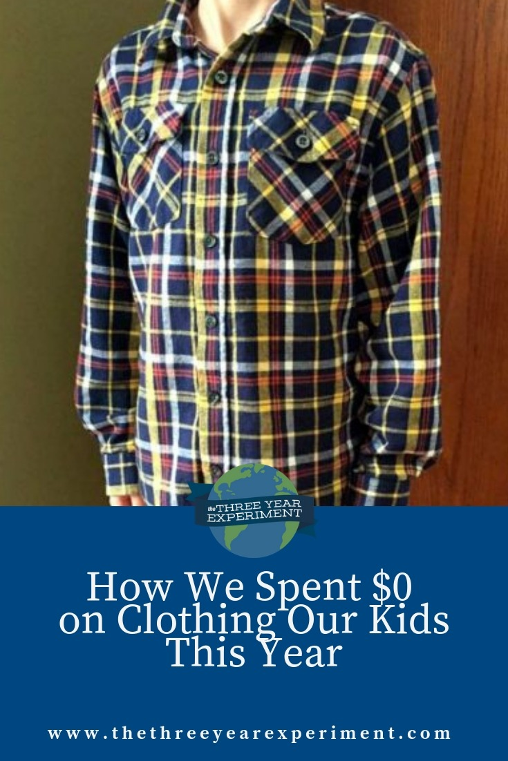 Clothing kids can be expensive. Here's how we spent $0 in clothes for our kiddos this year, and tips to help you do the same! @lauriethreeyear #kidsclothes #handmedowns #dressforless #dresskidsforless #nospendingchallenge