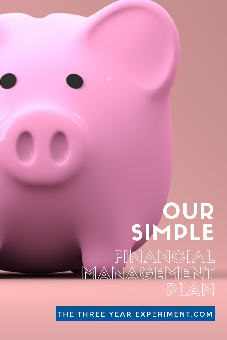 Finances can be overwhelming. When you're looking for financial advice, what budgeting tips make the most sense? This post details our simple financial management plan. Click through to check out all of our tips. via @lauriethreeyear #financialadvice #financetips #budgettips #financetips #simplemoney #simplefinances #financialmanagement
