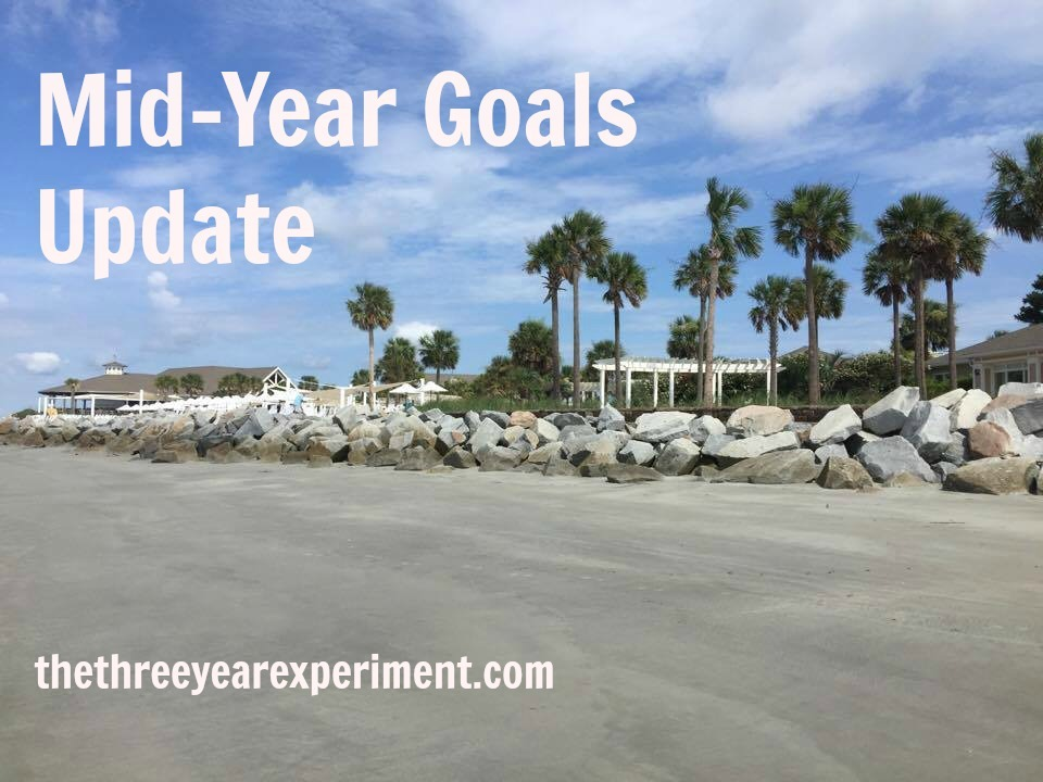 Mid-Year Goals Update--www.thethreeyearexperiment.com