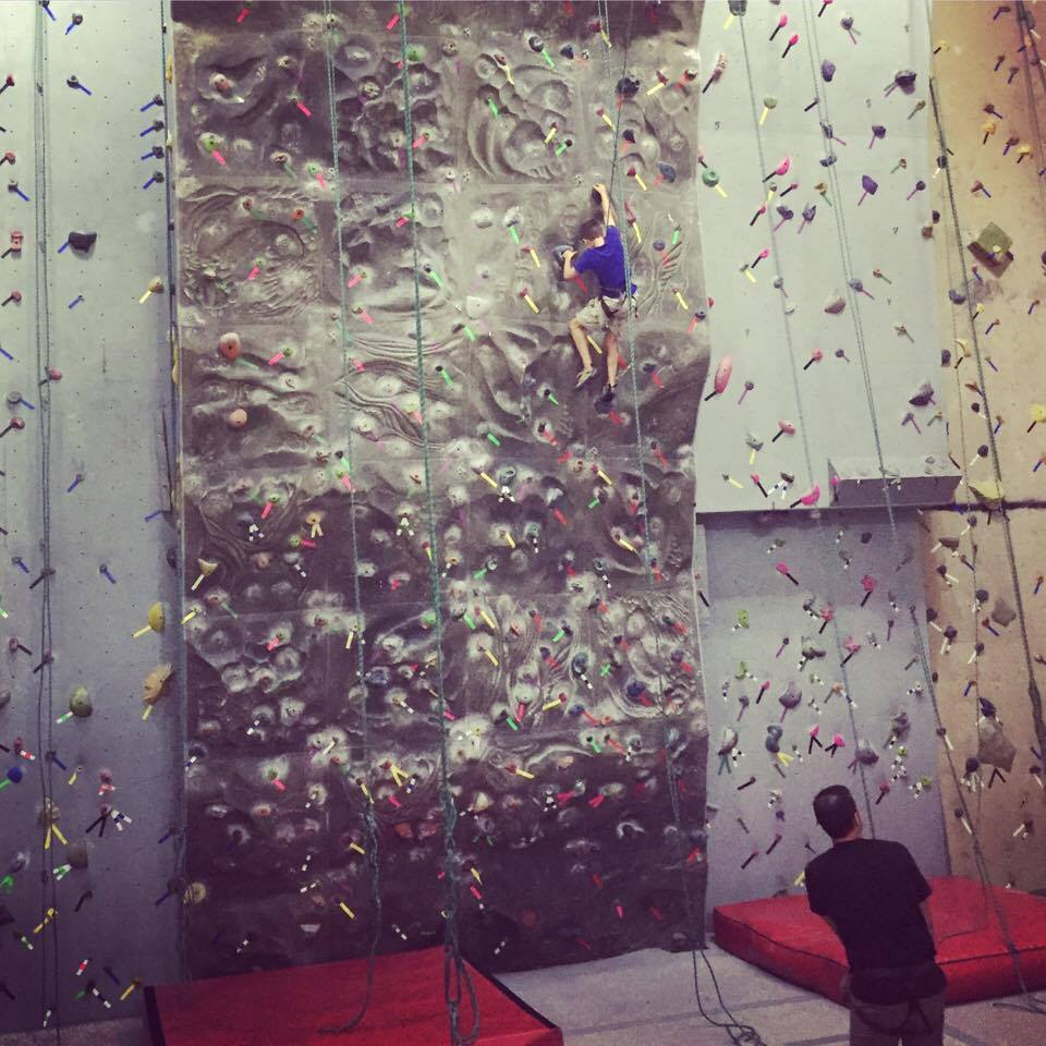 Climbing wall-www.thethreeyearexperiment.com