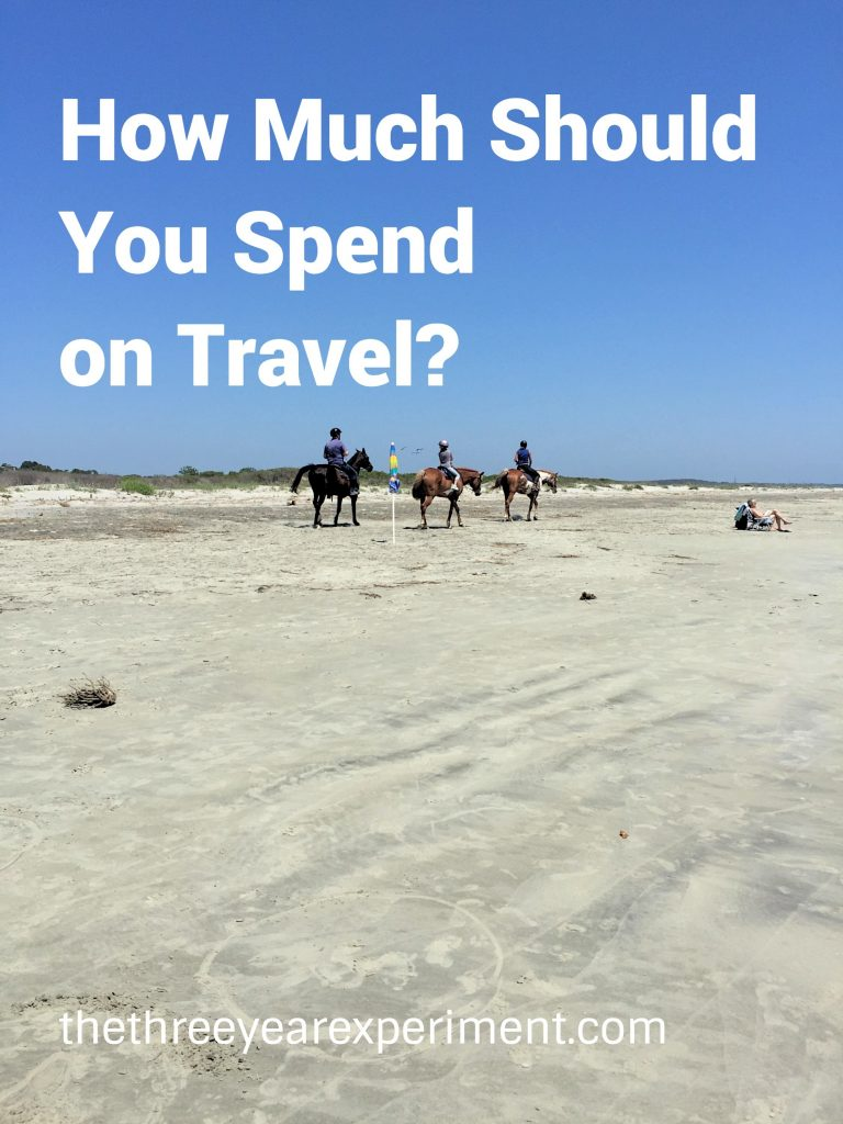 How Much Should You Spend on Travel? --www.thethreeyearexperiment.com