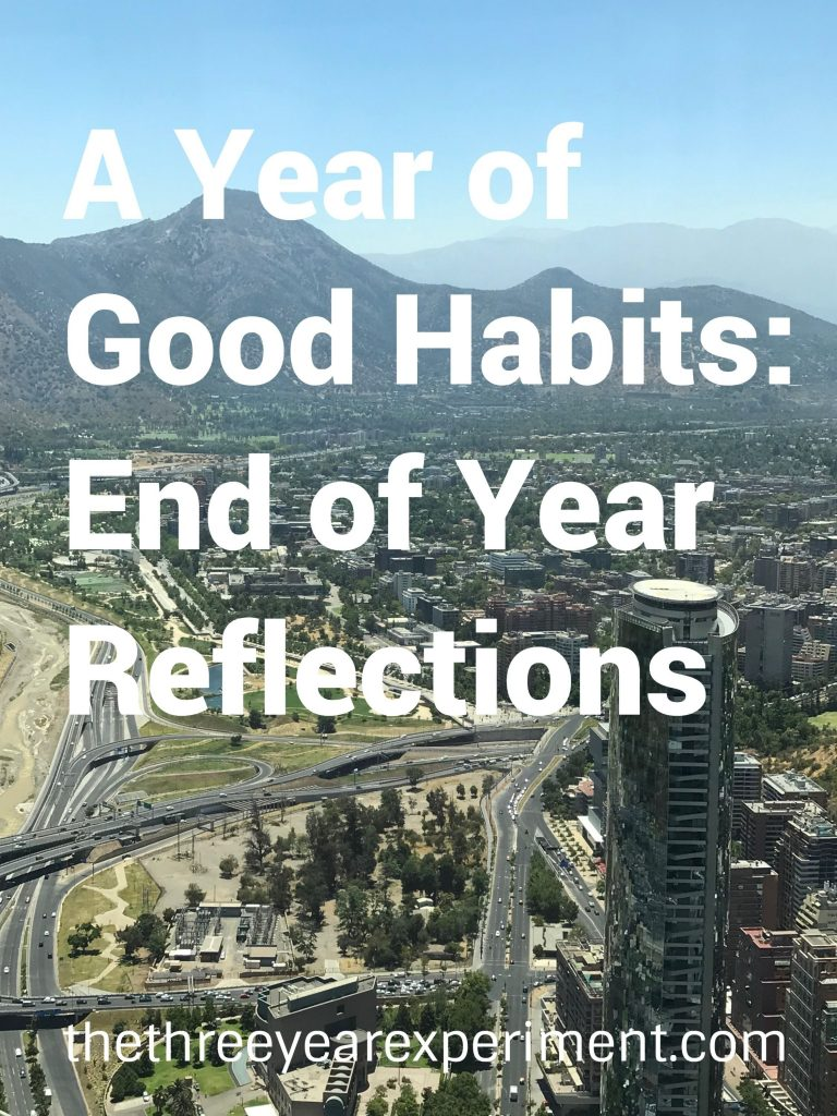 A Year of Good Habits End of Year Reflections: www.thethreeyearexperiment.com