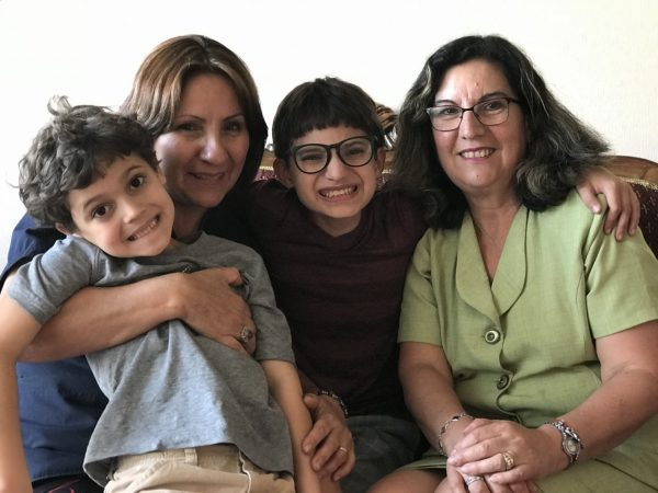Boys with their Chilean aunts---www.thethreeyearexperiment.com