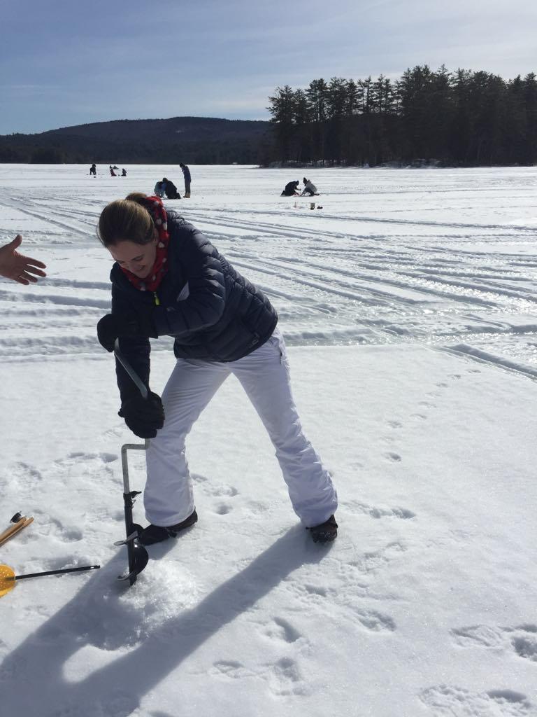 Ice fishing--www.thethreeyearexperiment.com
