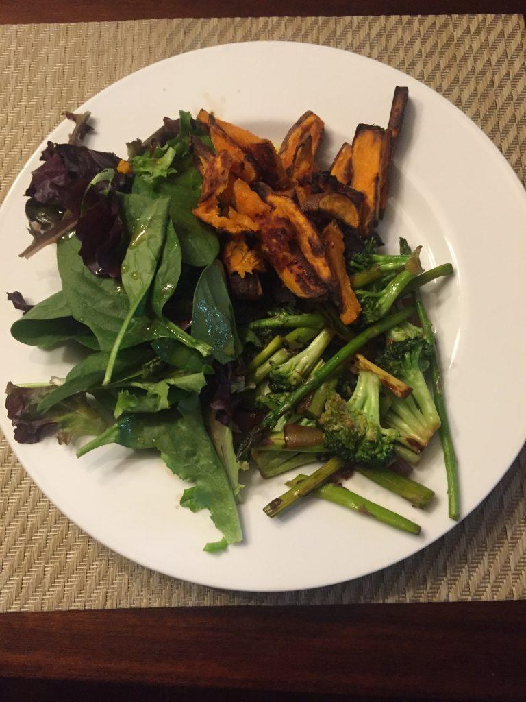 Veg dinner--www.thethreeyearexperiment.com