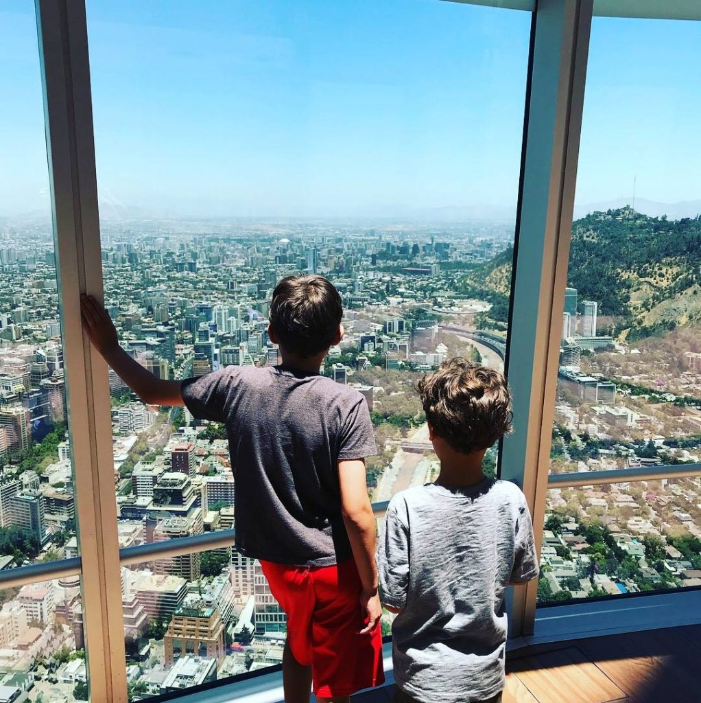 budget travel with kids sightsee Santiago Costanera tower--www.thethreeyearexperiment.com