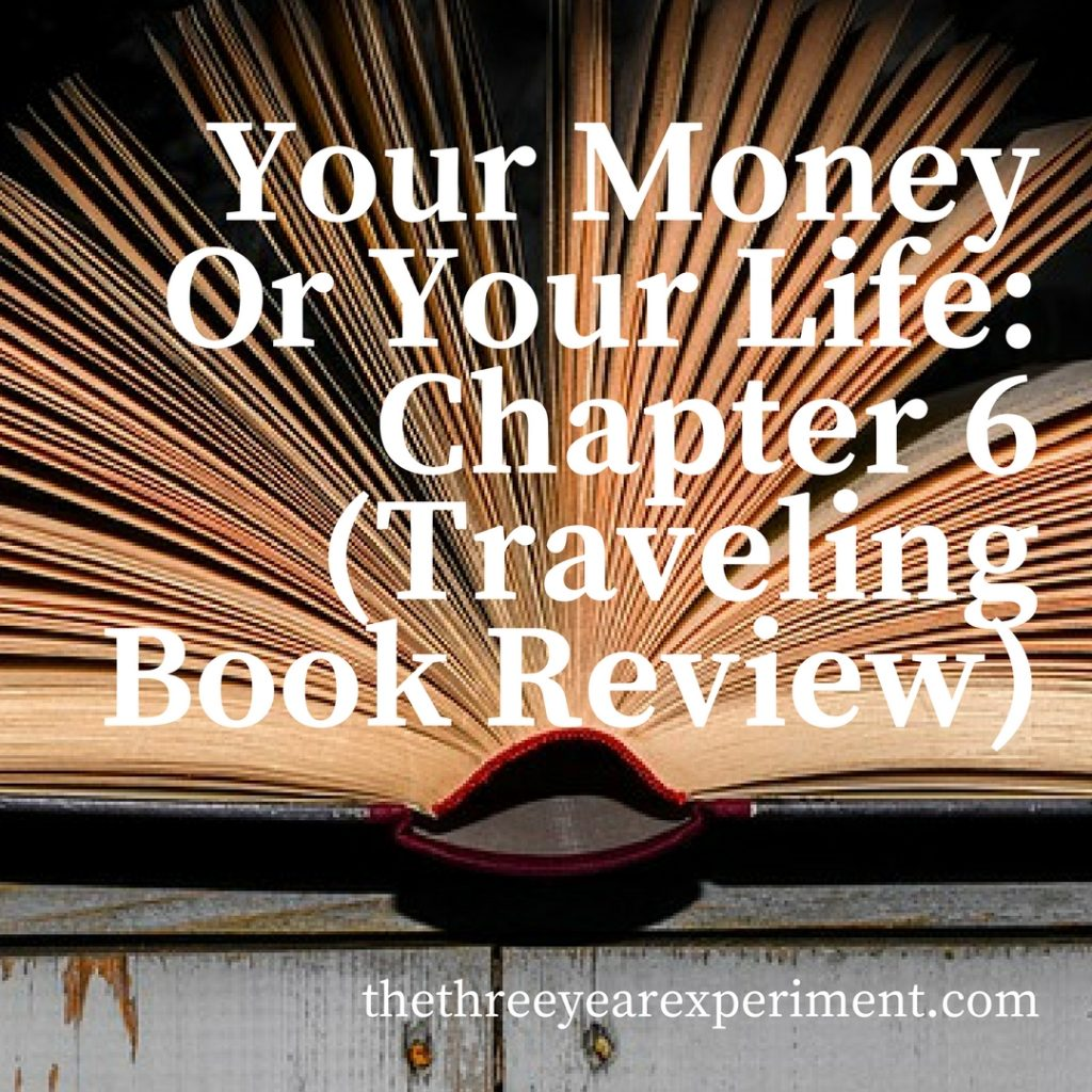 Your Money Or Your Life Chapter 6 www.thethreeyearexperiment.com